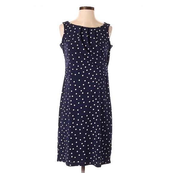 Charter Club Dresses & Skirts - Charter Club Plus Polka Dot Print Dress